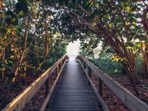 Natuurlijke strandpromenade